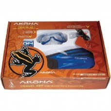 Akona Mask/Fin/Snorkle Travel Set