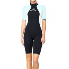 BARE 2mm Women's Nixie Shorty Wetsuit - Glacier Blue