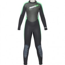 BARE 3/2mm Youth Manta Full Wetsuit Green