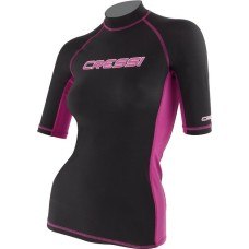Cressi Rash Guard Women's Short Sleeve Pink/Black