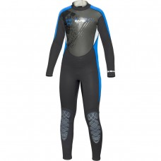 BARE 3/2mm Youth's Manta Full Wetsuit Blue