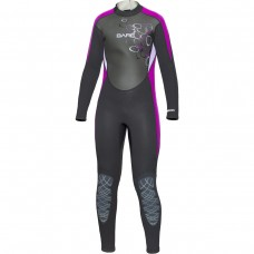 BARE 3/2mm Youth's Manta Full Wetsuit Purple