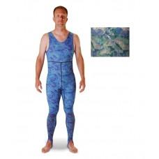 Riffe Cryptic Camo Lycra Farmer John Rash Guard Skin Suit - Reef Green