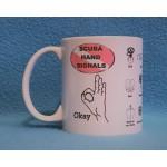 Scuba Hand Signals Coffee Mug