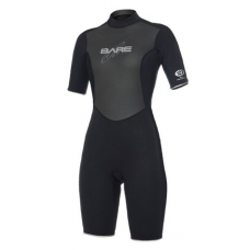 BARE 2mm Velocity Women's Progressive Stretch Wetsuit Shorty - Black
